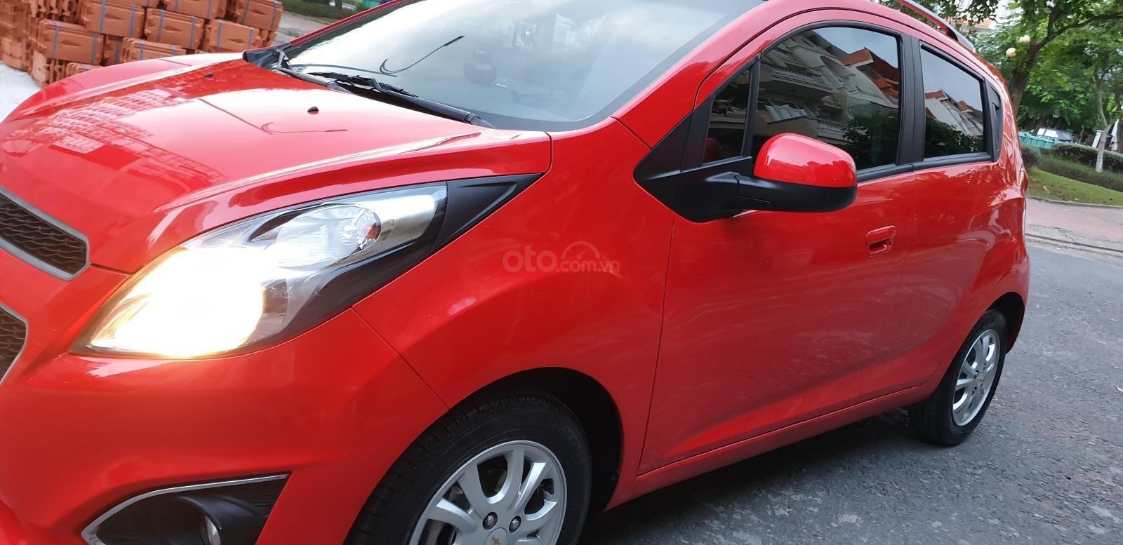 Bán Chevrolet Spark LTZ , số tự động đời T2/2014 sx 2013 màu đỏ đẹp mới 90% (4)