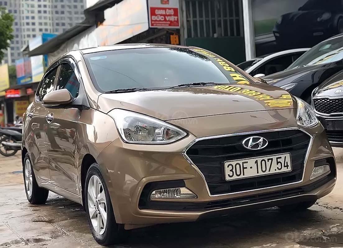 Cần bán Hyundai Grand i10 1.2 AT sản xuất 2018, màu nâu, chính chủ (1)