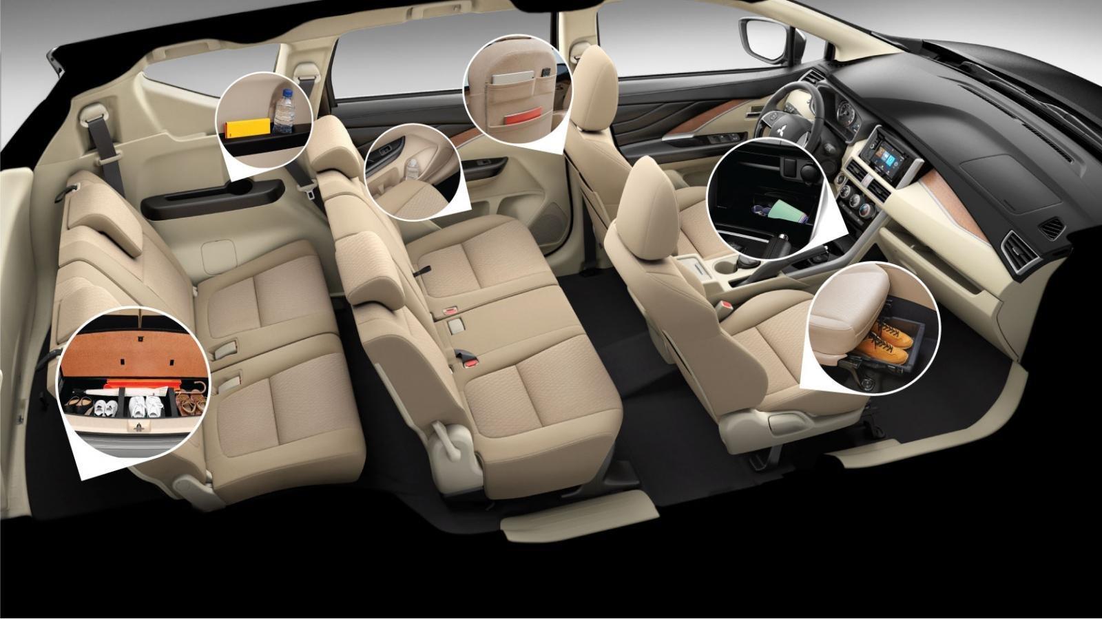 Mitsubishi Xpander 2020 có cấu hình 7 chỗ và ghế ngồi bọc nỉ cao cấp 1