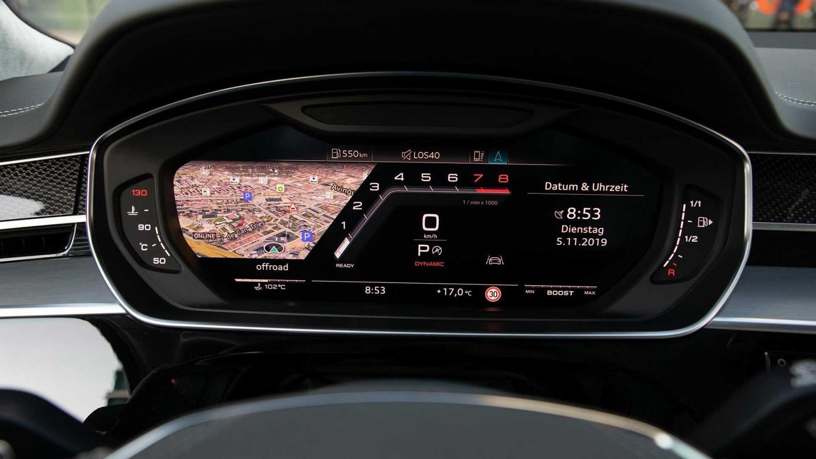 Đánh giá xe Audi S8 2020 về trang bị tiện nghi: bảng điều khiển
