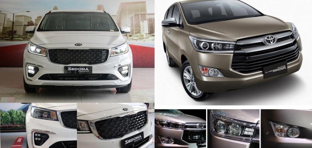 So sánh xe Toyota Innova và Kia Sedona