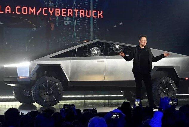 Tesla Cybertruck concept.
