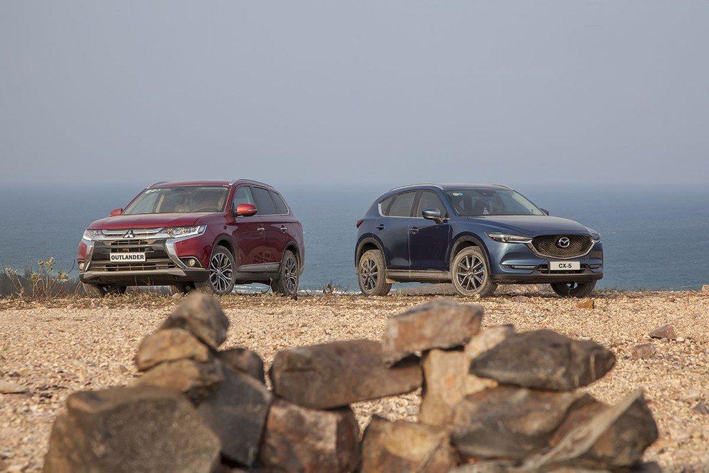 So sánh Mitsubishi Outlander với Mazda CX-5