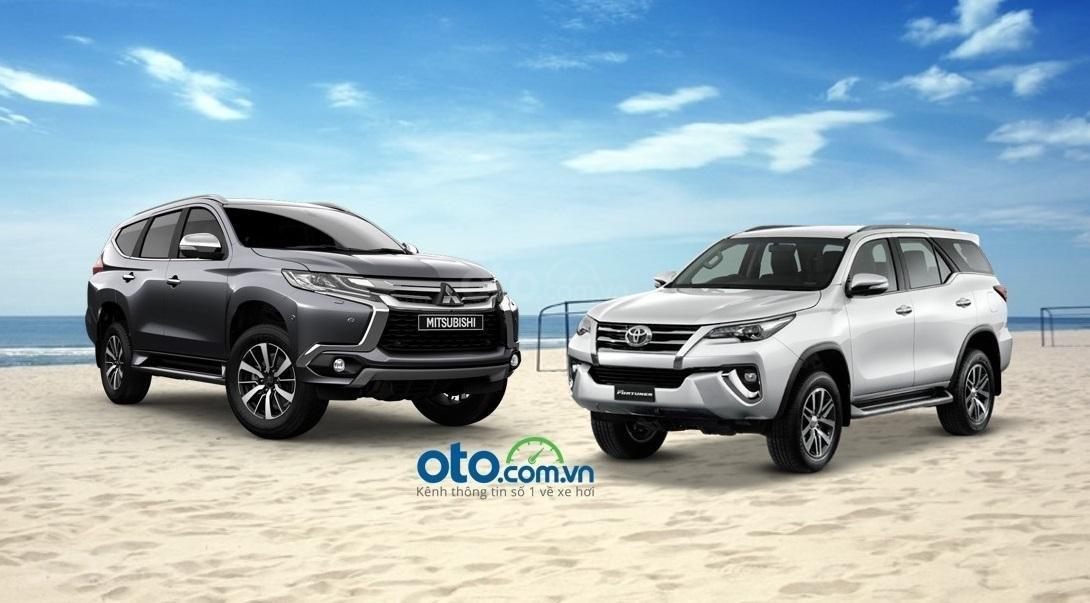 So sánh Mitsubishi Pajero Sport và Toyota Fortuner 2019