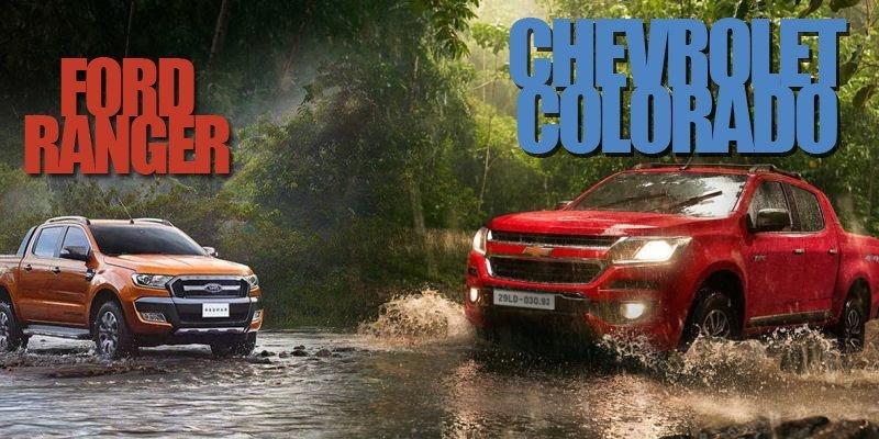 So sánh xe Ford Ranger và Chevrolet Colorado