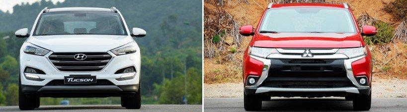 So sánh Mitsubishi Outlander và Hyundai Tucson