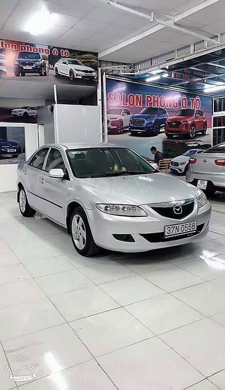 Cần bán Mazda 6 2.0MT năm sản xuất 2003, màu bạc số sàn, 189 triệu (1)