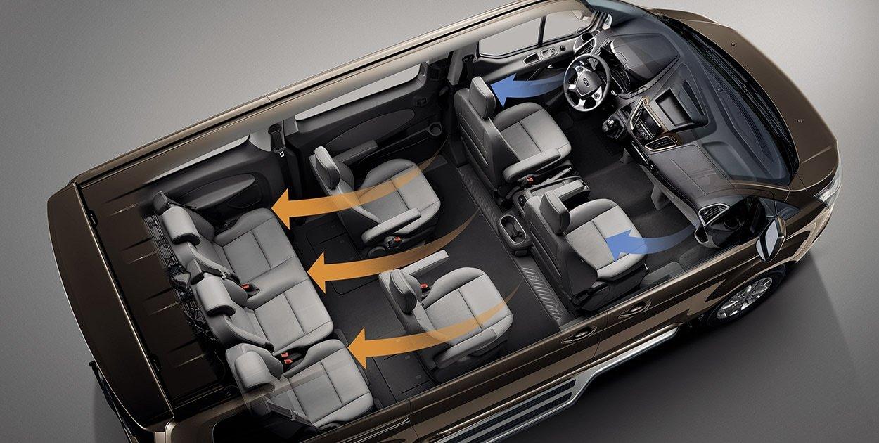 Khoang nội thất rộng rãi với hàng ghế thứ 3 có thể gập ngọn lại
