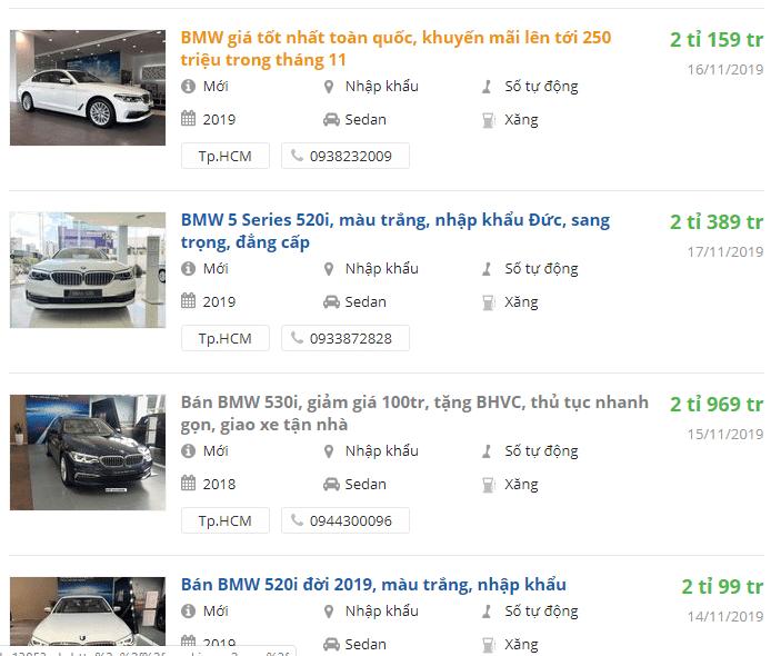 BMW 5-Seriesđang là mẫu xe có giảm hấp dẫn nhất, từ 240 - 330 triệu đồng a1