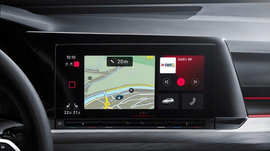 Đánh giá xe Volkswagen Golf 2020 về trang bị tiện nghi: bảng cảm ứng