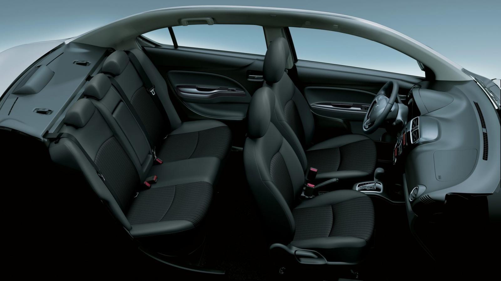 Nội thất rộng rãi thoải mái của Mitsubishi Attrage