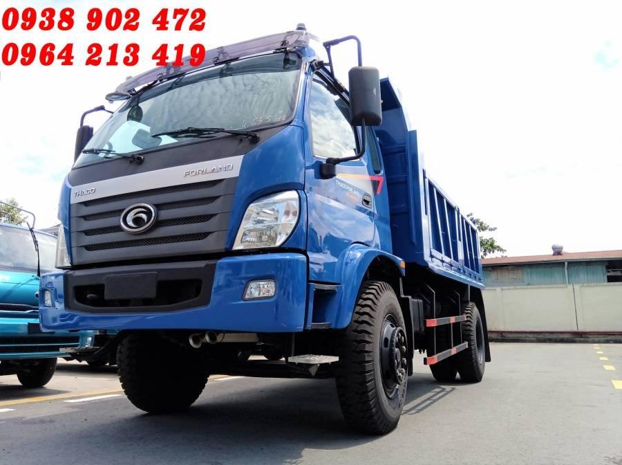 Cần bán xe ben Thaco FORLAND FD9500 bửng mở năm 2017, màu xanh lam (1)