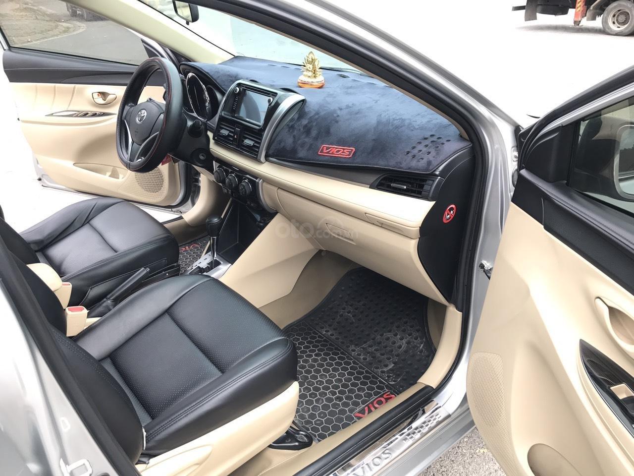 Bán xe Toyota Vios 1.5E CVT 2017, màu bạc, 1 chủ không lỗi nhỏ, xe mới cứng (7)