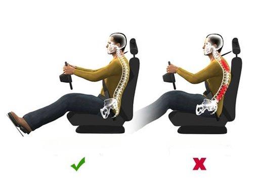 Đau lưng khi thường xuyên lái xe đường dài.
