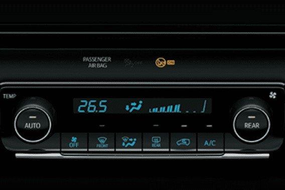 Trang bị tiện nghi trên xe Toyota Fortuner 2020: Hệ thống điều hòa 1