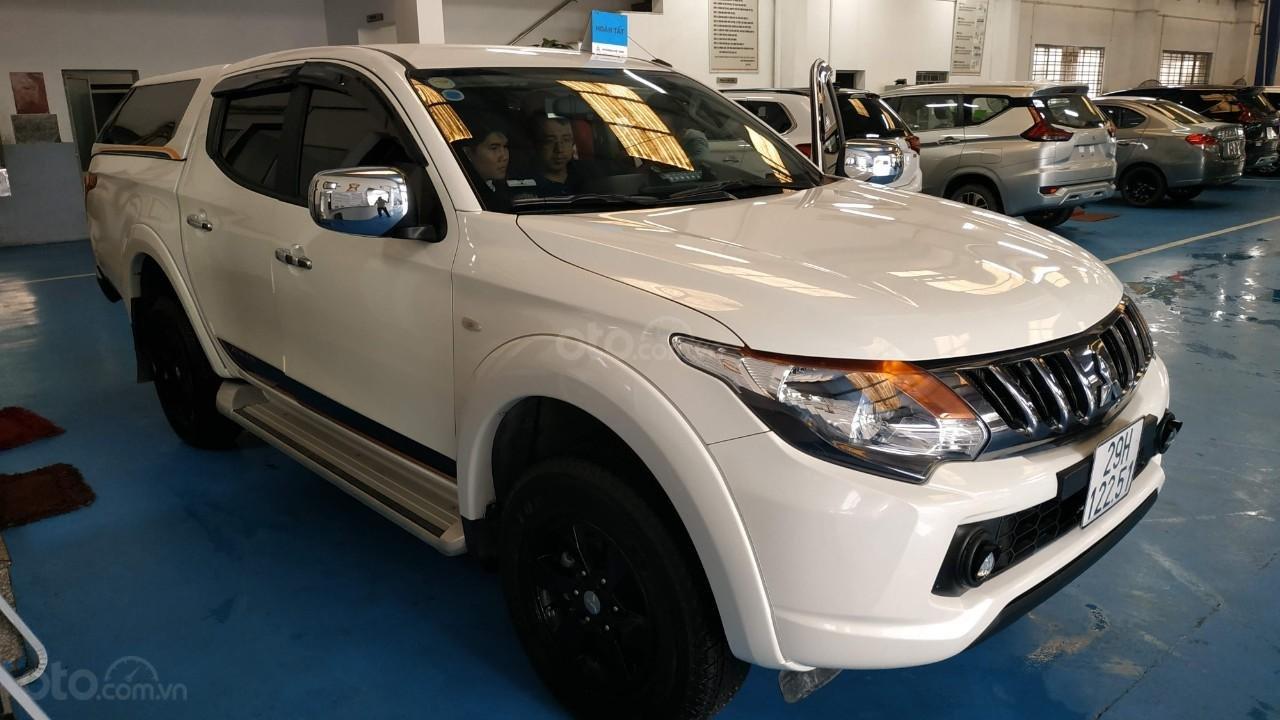 Bán ô tô Mitsubishi Triton đời 2018, màu trắng, nhập khẩu nguyên chiếc, giá tốt (1)