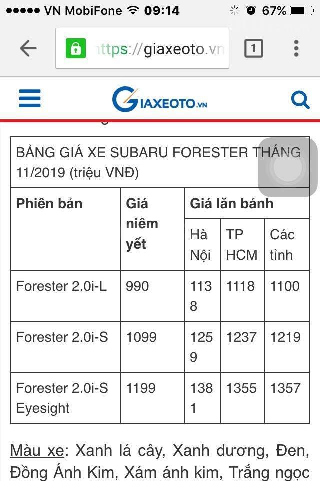 Cần bán xe Subaru Forester 2.0i-L (xe mới 100%) (6)