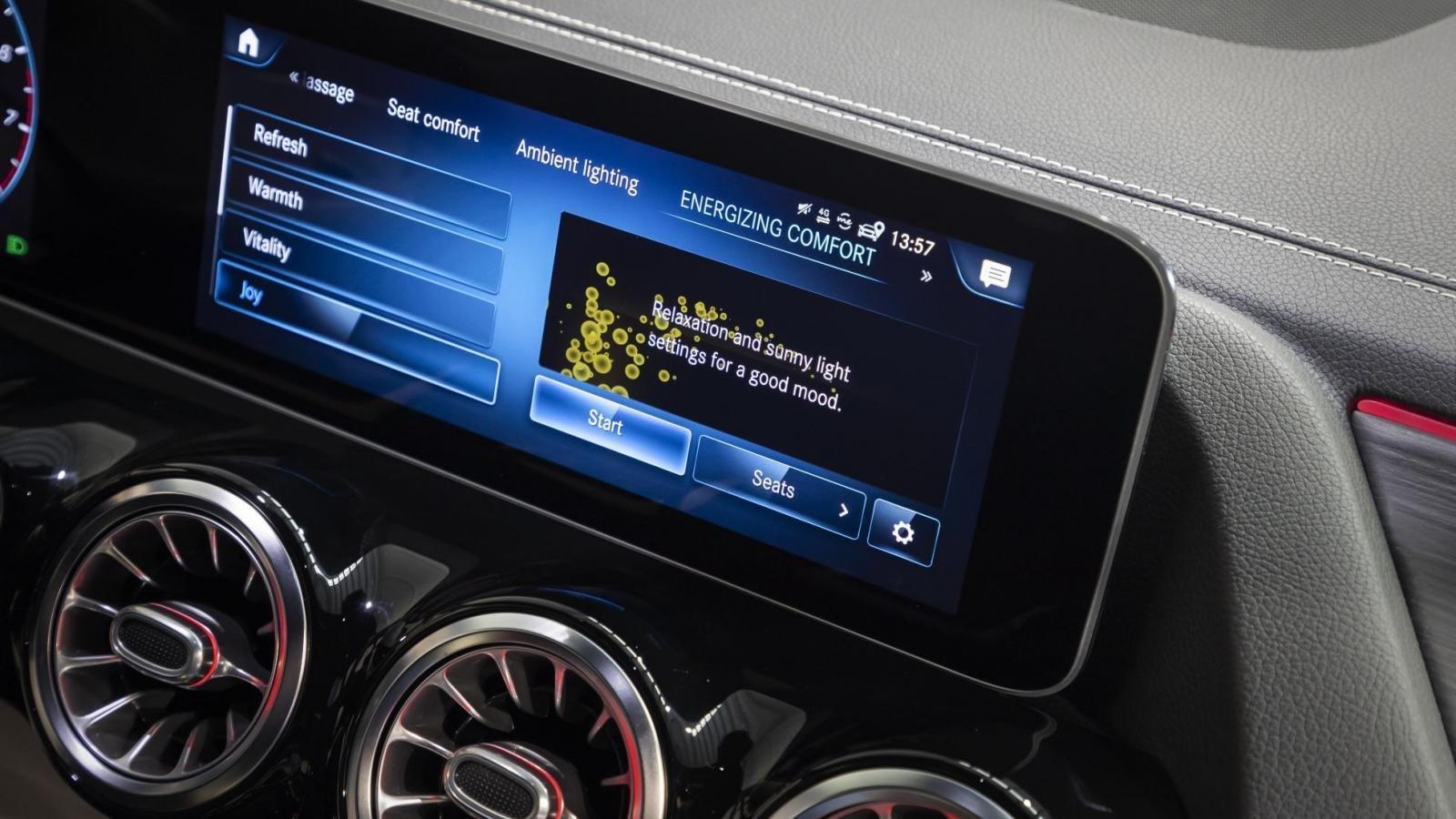 Đánh giá xe Mercedes-Benz B-Class 2020 về trang bị tiện nghi: màn hình MBUX