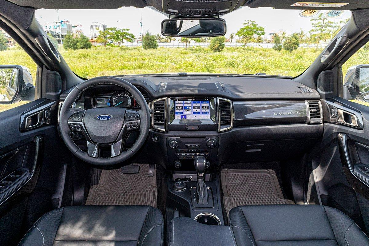 Thiết kế khoang nội thất xe Ford Everest 2020 1