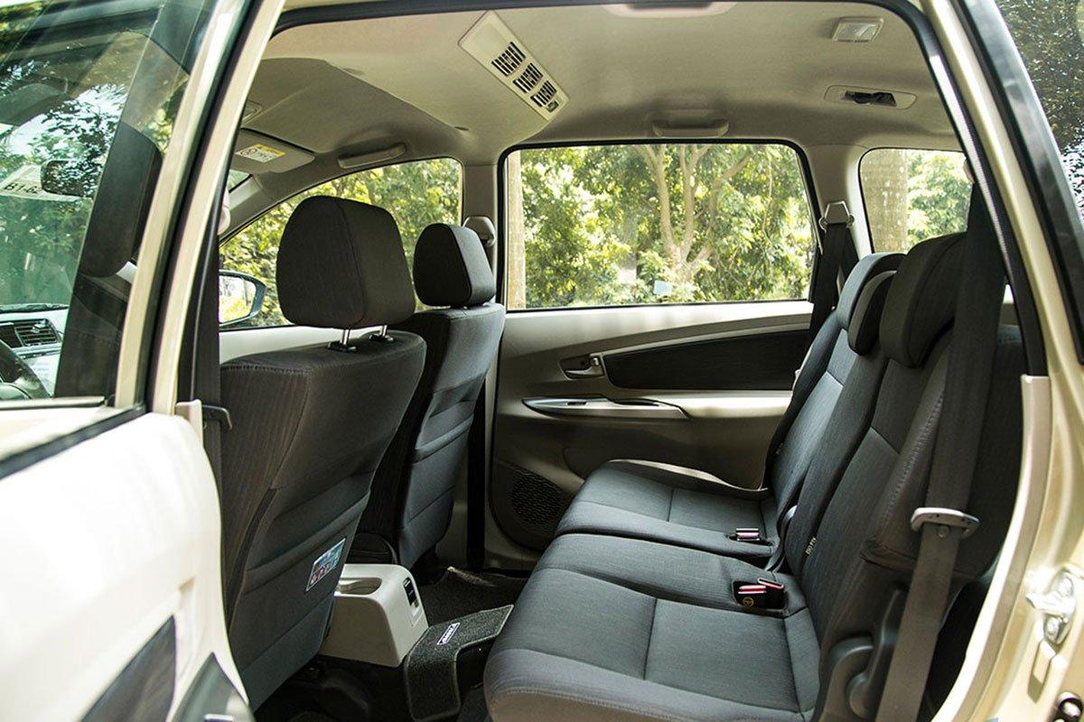 Thiết kế hàng ghế sau của Toyota Avanza 2019 1