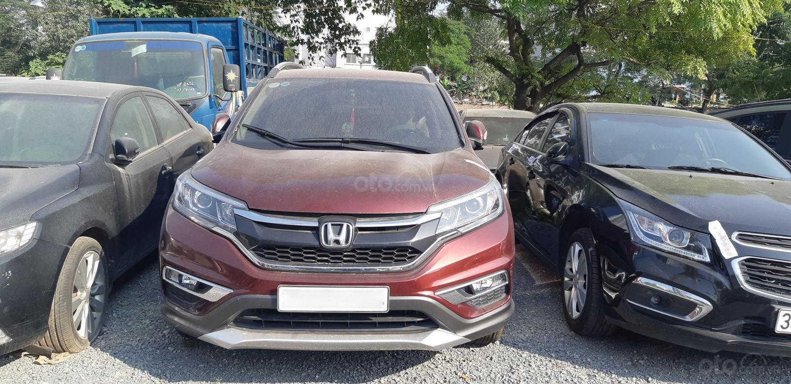 Bán Honda CR V đời 2016, màu nâu số tự động (1)