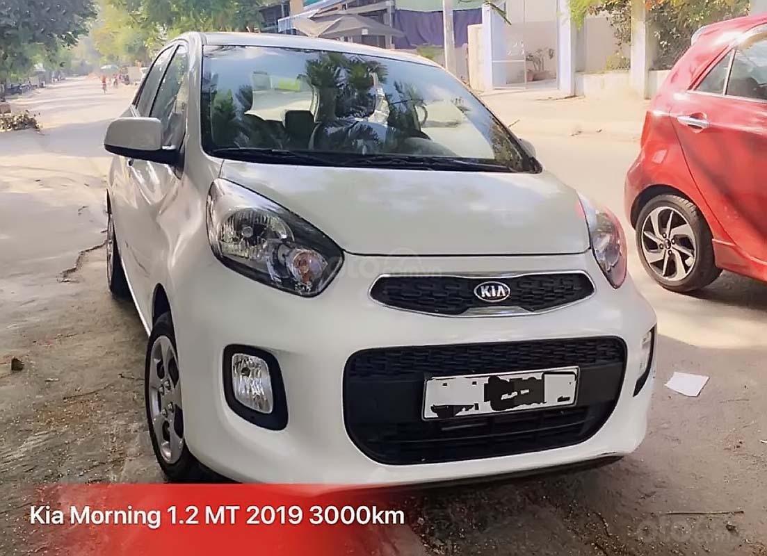 Bán Kia Morning 1.25 EXMT đời 2019, màu trắng, xe mới chạy 3000km (1)