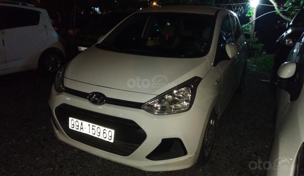 Bán Hyundai Grand i10 1.0 MT Base đời 2016, màu trắng, xe nhập Ấn (1)