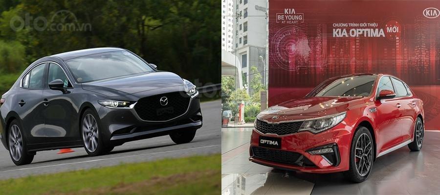 So sánh xe Mazda 3 2020 và Kia Optima 2020 a1
