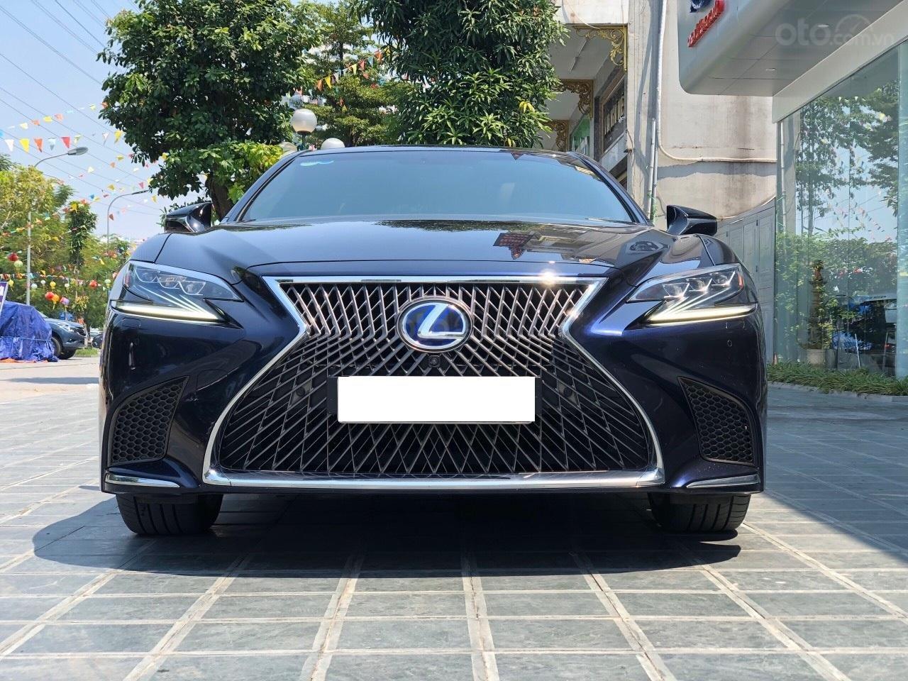 Bán xe Lexus LS 500H 2017, màu xanh lam, giá tốt giao ngay toàn quốc, LH Ngọc Vy 093.996.2368 (1)