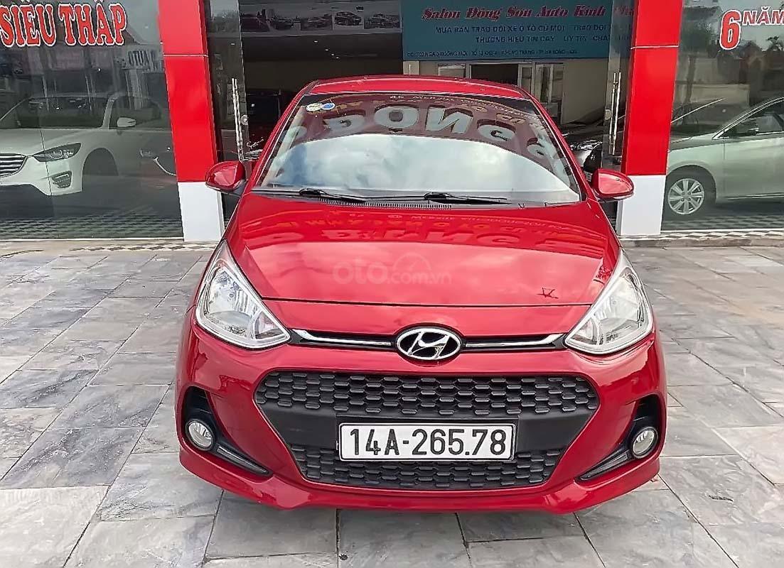 Bán xe Hyundai Grand i10 1.2 AT đời 2017, màu đỏ, số tự động (1)