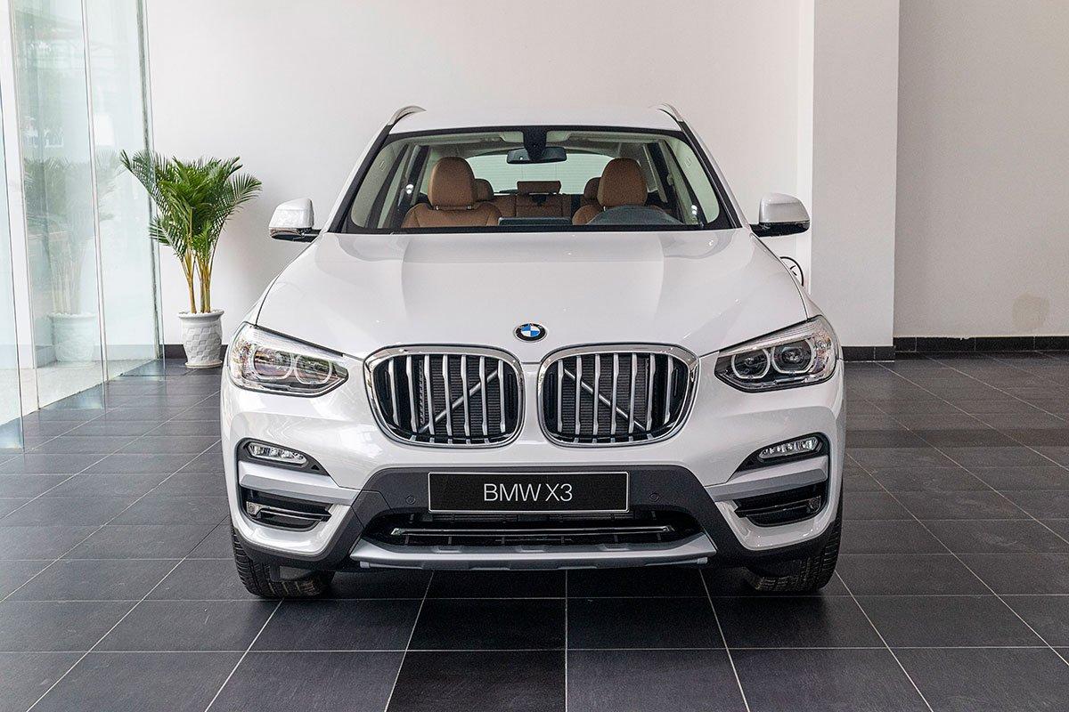 Đánh giá xe BMW X3 2019: đầu xe.