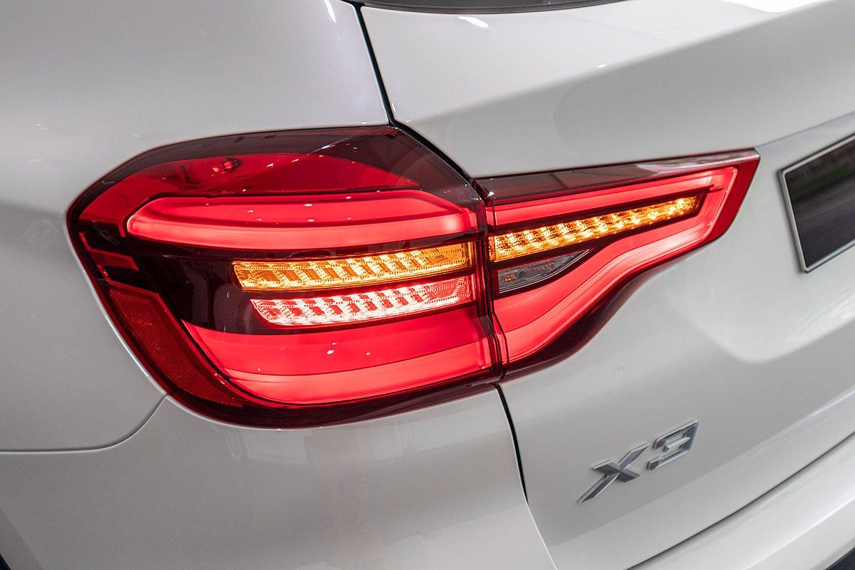 Đánh giá xe BMW X3 2019: Đèn hậu LED dạng 3D.