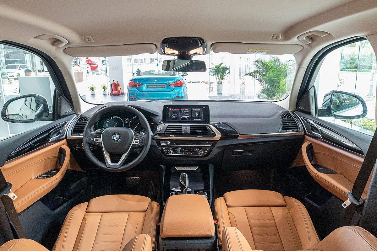 Đánh giá xe BMW X3 2019: khoang lái.