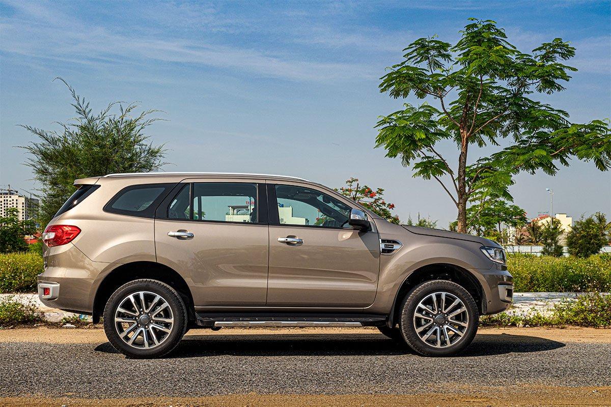 Đánh giá xe Ford Everest Titanium 2.0L Bi-Turbo 2019: Thân xe.