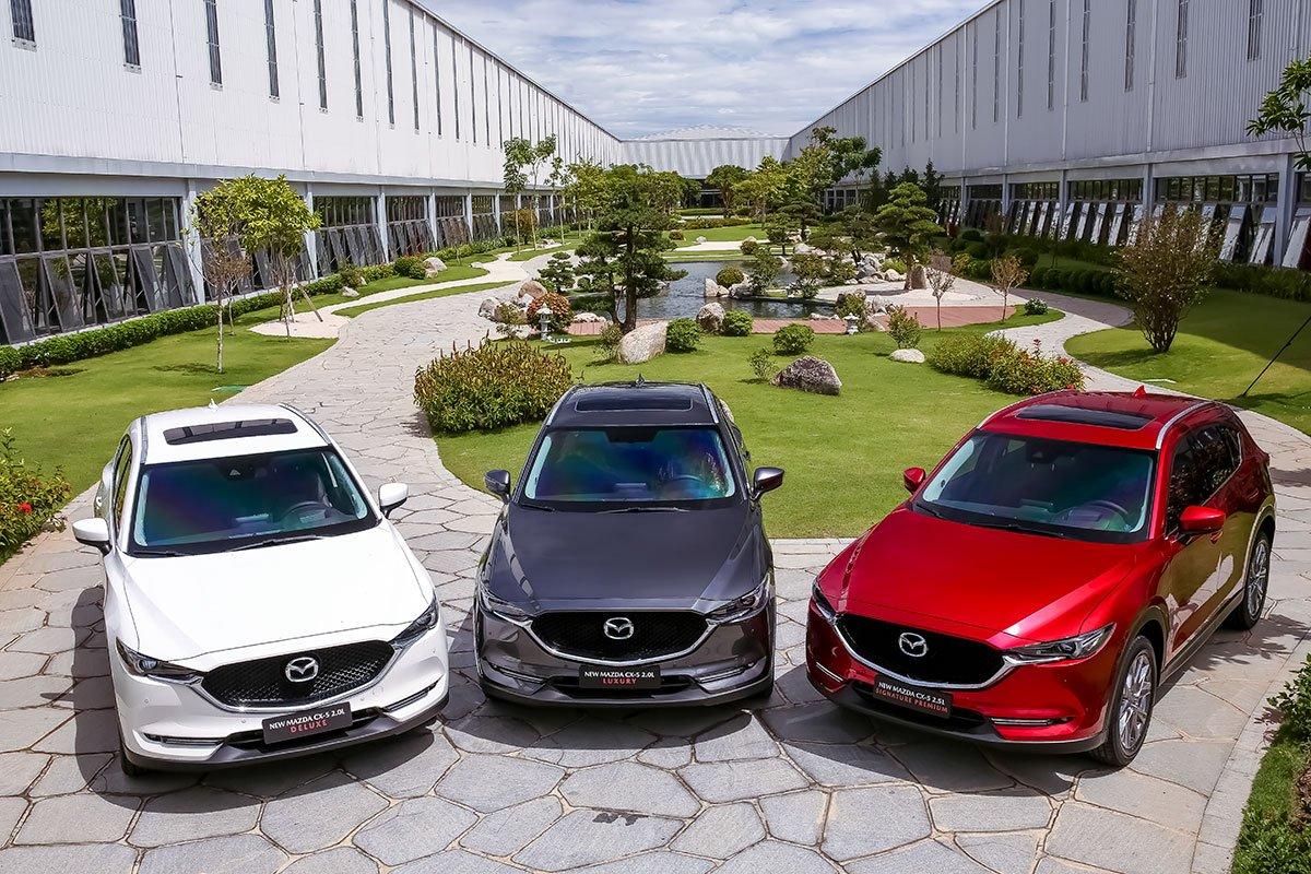 Đánh giá xe Mazda CX-5 2019: Xe có 5 phiên bản.