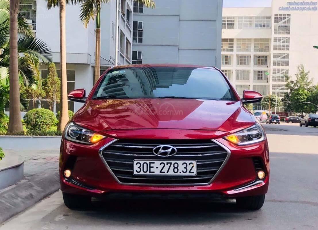 Bán Hyundai Elantra sản xuất 2016, màu đỏ, 575 triệu (1)