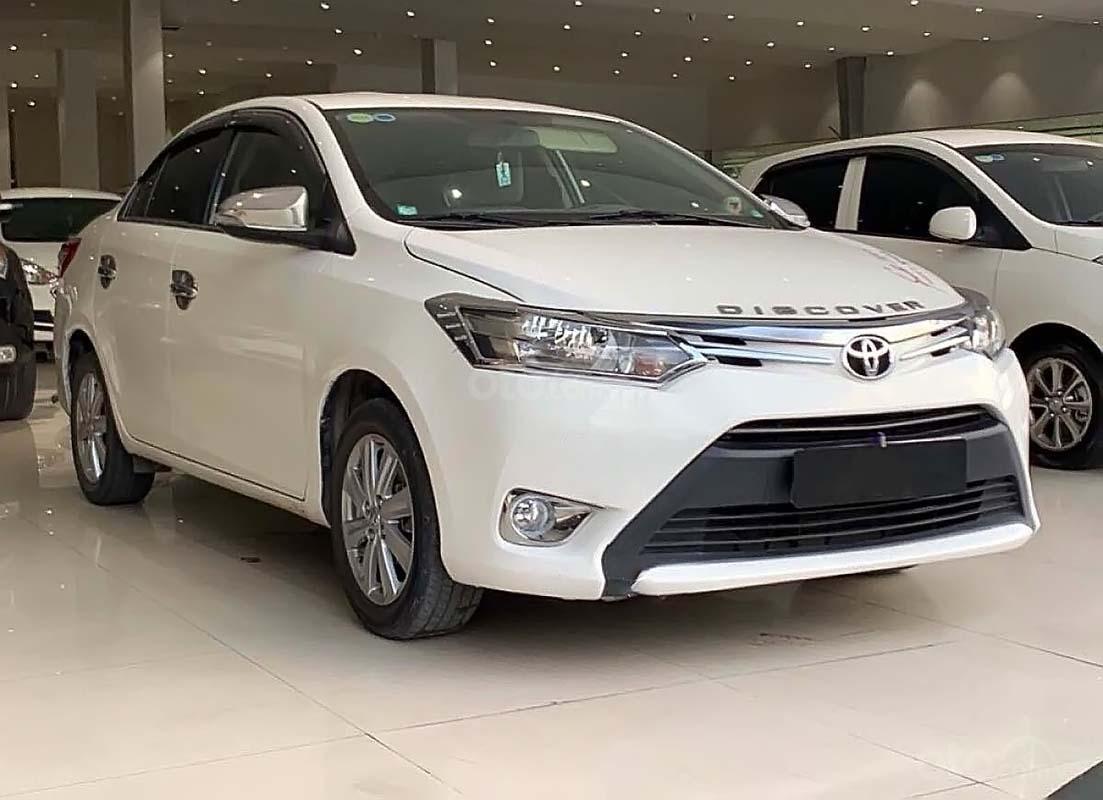 Bán Toyota Vios 1.5 E MT đời 2017, màu trắng số sàn (1)