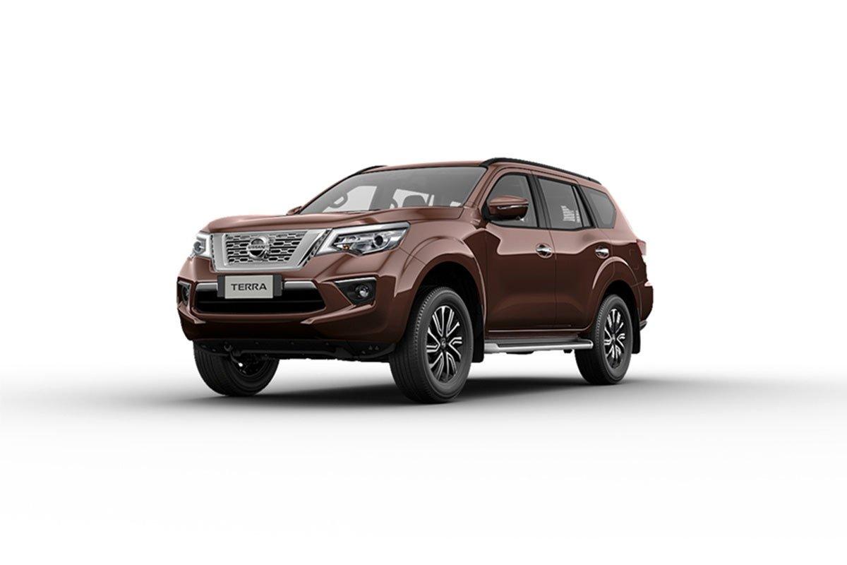 Màu sắc ngoại thất Nissan Terra - Nâu.