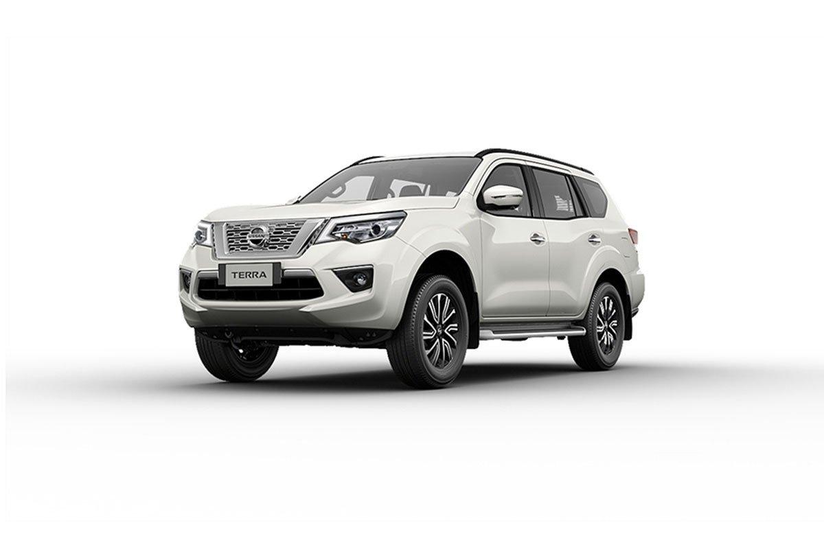 Màu sắc ngoại thất Nissan Terra - Trắng.