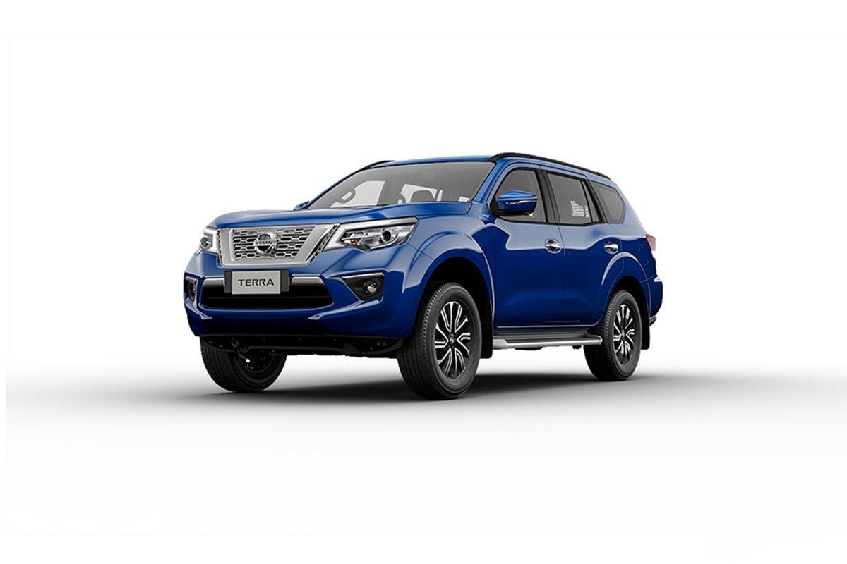 Màu sắc ngoại thất Nissan Terra - Xanh.