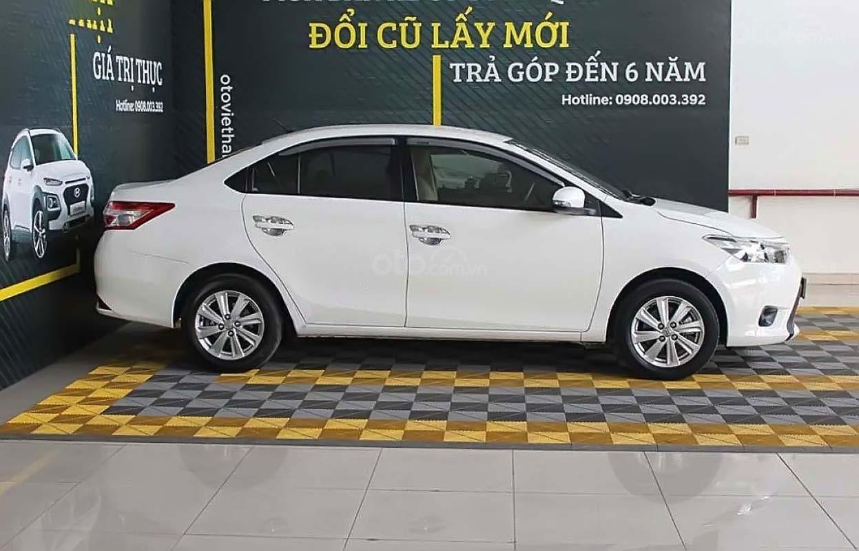 Bán xe cũ Toyota Vios 1.5E CVT đời 2018, màu trắng (2)