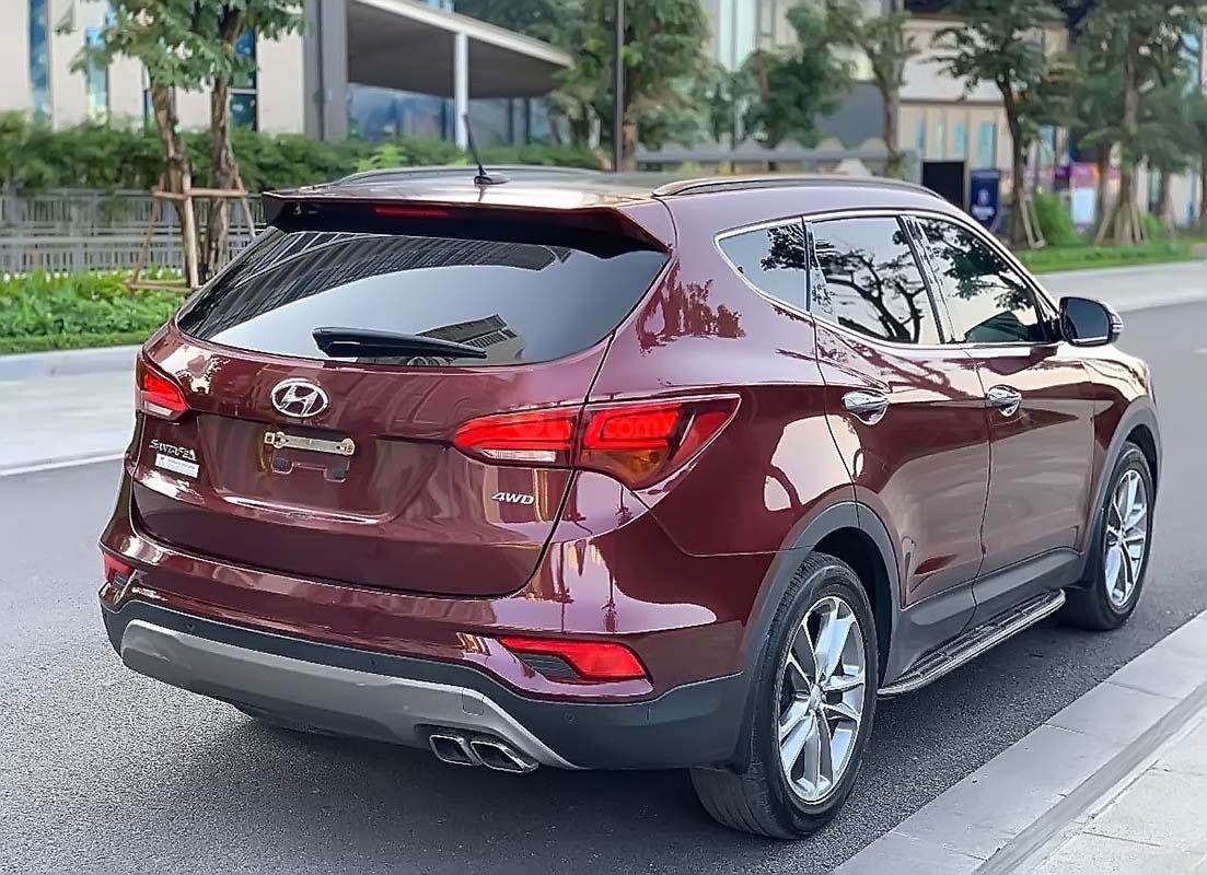 Bán Hyundai Santa Fe đời 2018, màu đỏ, giá tốt (2)