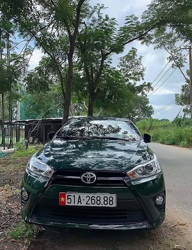 Bán xe Toyota Yaris 1.3G năm 2014, màu xanh lam, nhập khẩu  (5)