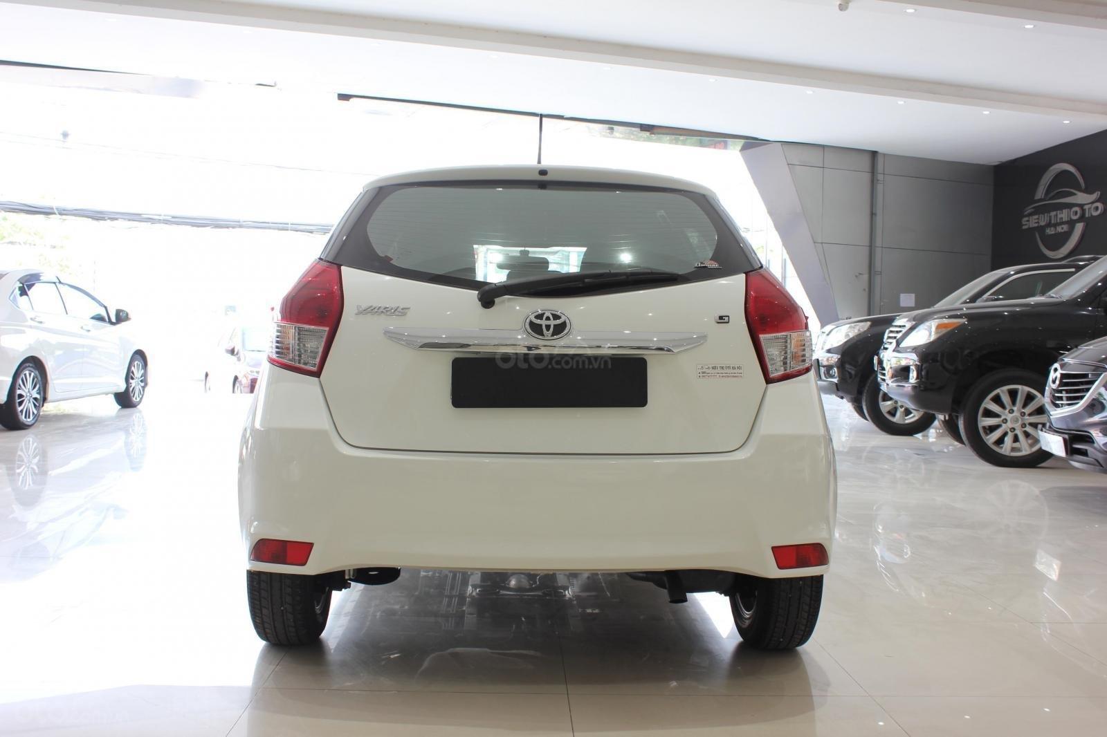 Cần bán xe Toyota Yaris 1.3G sx 2015, màu trắng, nhập Thái. Xem xe có giá tốt (4)