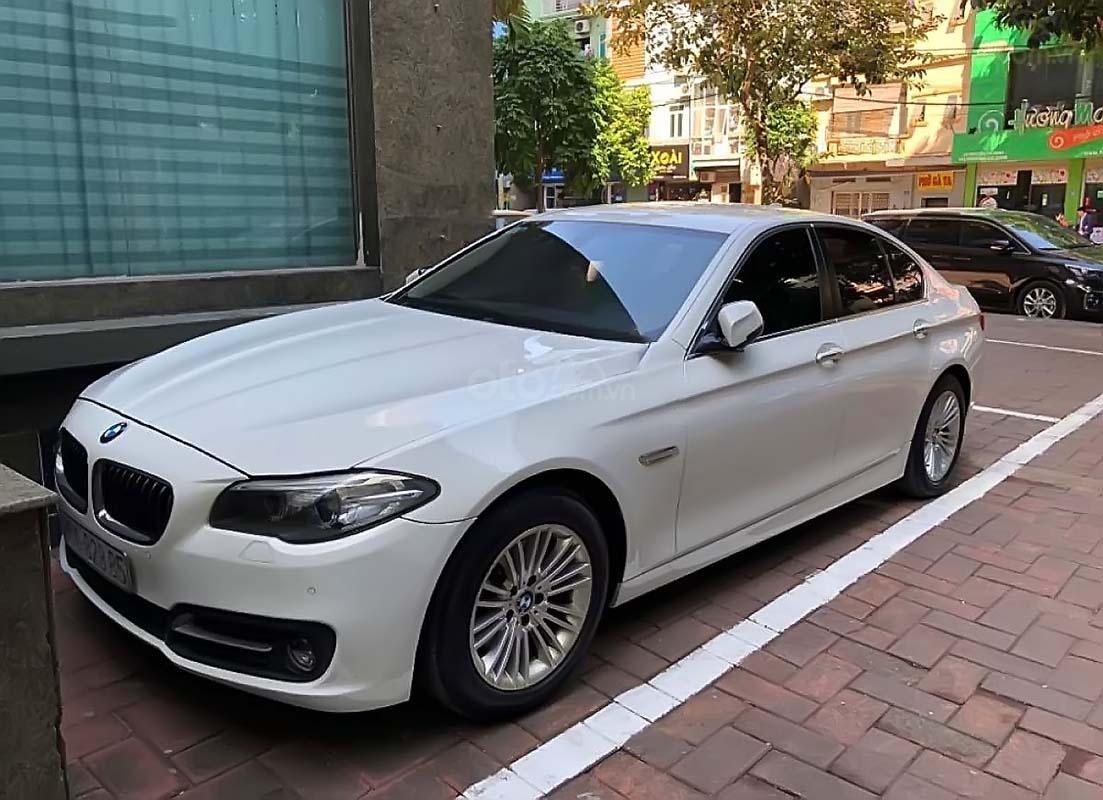 Cần bán lại xe BMW 5 Series 520i năm 2015, màu trắng, nhập khẩu nguyên chiếc (1)