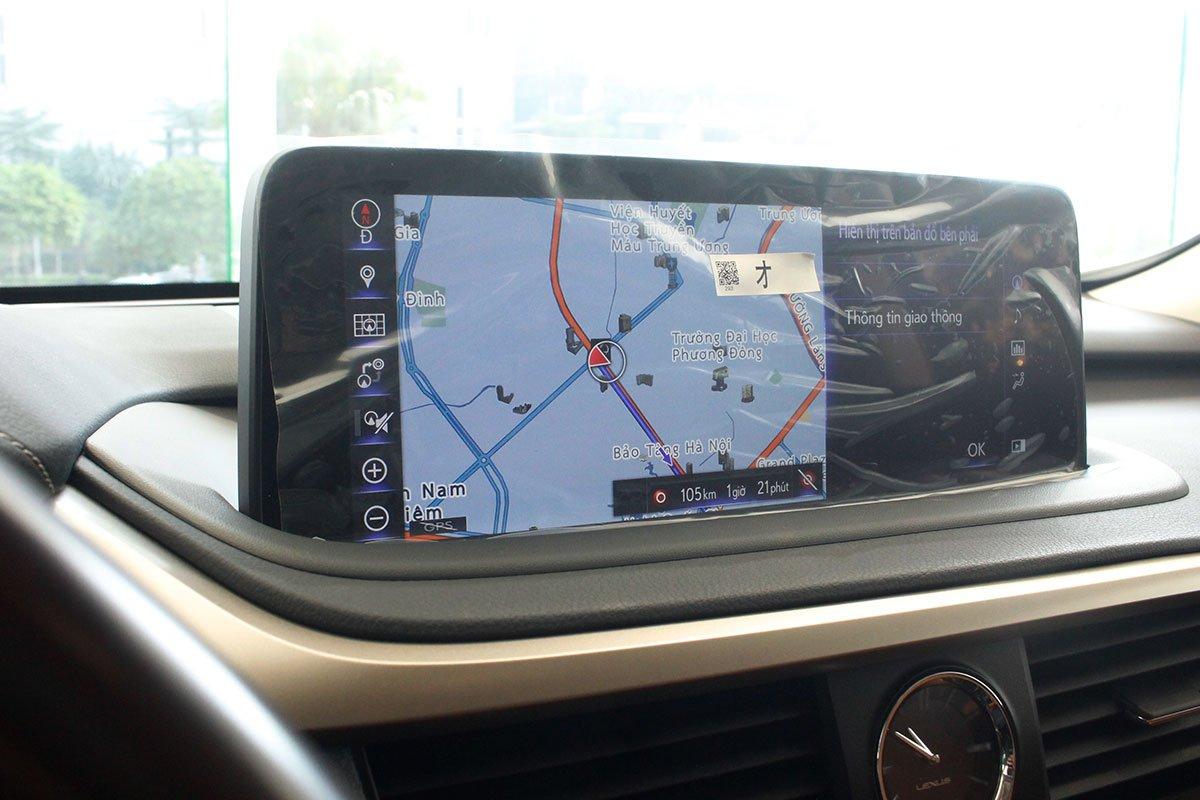 Ảnh chụp màn hình giải trí xe Lexus RX350 2020: