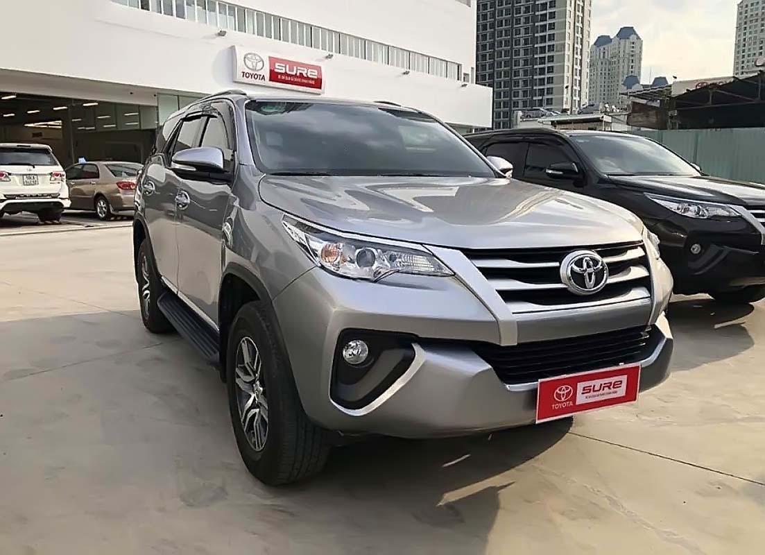 Bán Toyota Fortuner 2.4G đời 2017, màu bạc, nhập khẩu (1)