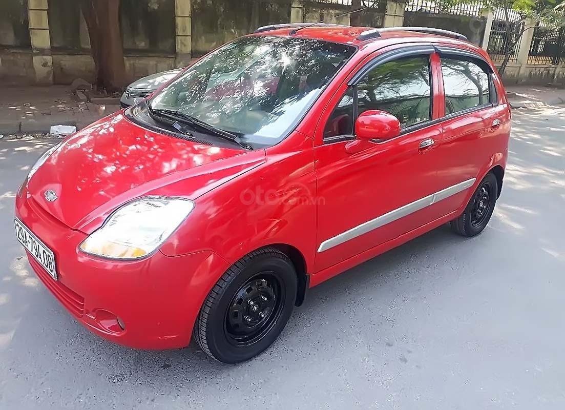Cần bán xe Chevrolet Spark LT 0.8 AT năm 2009, màu đỏ   (1)