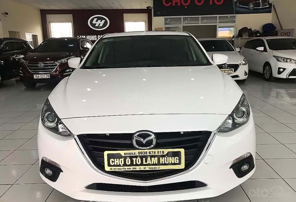 Bán Mazda 3 1.5 AT sản xuất năm 2017, màu trắng (1)