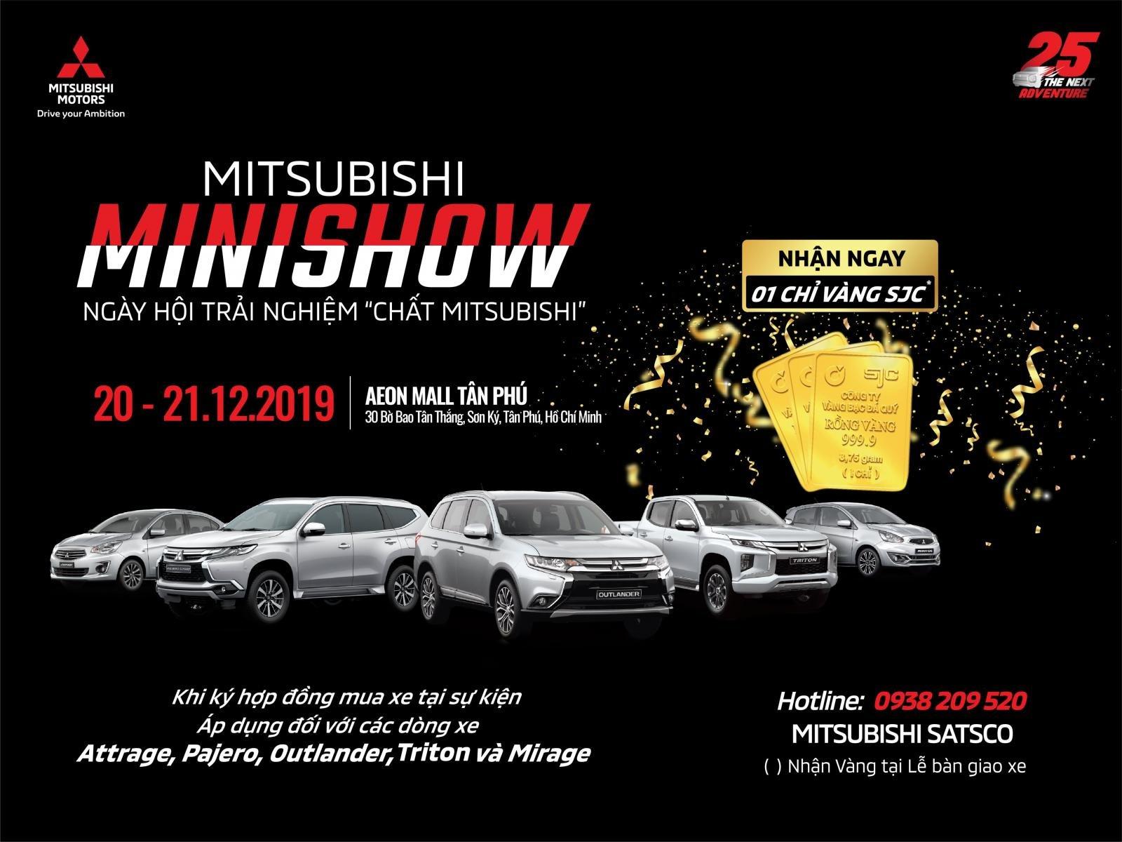 """Sự kiện """"Chất Mitsubishi"""" được Mitsubishi Motors Việt Nam cùng nhà phân phối  Satsco tổ chức trong 2 ngày 20 & 21/12/2019 tại AEON MALL Tân Phú 1."""